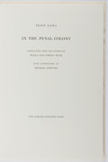 Books:Fine Press & Book Arts, [Limited Editions Club]. SIGNED LIMITED EDITION. Franz Kafka. Inthe Penal Colony. LEC, [1987]. One of 800 cop...
