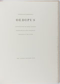 Books:Fine Press & Book Arts, [Limited Editions Club]. SIGNED LIMITED EDITION. FriedrichDurrenmatt. Oedipus. LEC, [1989]. One of 650 copies...