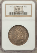 Bust Half Dollars: , 1812/1 50C Small 8 AU55 NGC. NGC Census: (11/33). PCGS Population(14/28). Numismedia Wsl. Price for problem free NGC/PCGS...