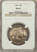 Barber Half Dollars, 1906 50C MS65 NGC....