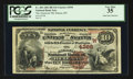 National Bank Notes:Montana, Helena, MT - $10 1882 Brown Back Fr. 484 The American NB Ch. # (W)4396. ...