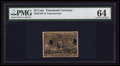 Fractional Currency:First Issue, Milton 2E25F.3f 25¢ Second Issue Experimental PMG Choice Uncirculated 64.. ...
