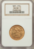 Liberty Eagles: , 1890 $10 MS62 NGC. NGC Census: (55/7). PCGS Population (87/16).Mintage: 57,900. Numismedia Wsl. Price for problem free NGC...