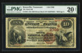 National Bank Notes:Tennessee, Knoxville, TN - $10 1882 Brown Back Fr. 482 The Third NB Ch. #(S)3708. ...