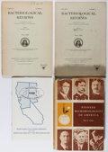Books:Medicine, [Microbiology]. Lot of 4 titles. Including: Paul Clark. Pioneer Microbiologists of America. 1961. First edition.... (Total: 4 Items)