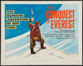 """Movie Posters:Documentary, Conquest of Everest (United Artists, 1954). Half Sheet (22"""" X 28""""). Documentary.. ..."""