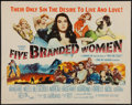 "Movie Posters:War, Five Branded Women (Paramount, 1960). Half Sheet (22"" X 28""). War....."