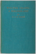 Books:Books about Books, [Books About Books]. Walter Crane, [subject]. Gertrude C. E. Masse. A Bibliography of First Editions. Chelsea, 1...
