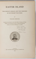 Books:Natural History Books & Prints, William Churchill. INSCRIBED. Easter Island. Carnegie, 1912. First edition, first printing. Signed and inscrib...