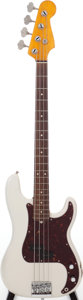 Musical Instruments:Bass Guitars, 1966 Fender Precision Bass Pearl White Electric Bass Guitar, Serial # 110346. ...