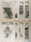 Books:Americana & American History, [Harper's Weekly]. Eight Issues of Harper's Weekly. Harper,1899-1901. Eight folio issues. In wrappers. Some ton...