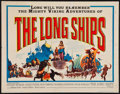 "Movie Posters:Adventure, The Long Ships & Other Lot (Columbia, 1963). Half Sheets (2)(22"" X 28""). Adventure.. ... (Total: 2 Items)"
