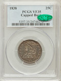 Bust Quarters: , 1838 25C VF35 PCGS. CAC. PCGS Population (27/182). NGC Census: (5/168). Mintage: 366,000. Numismedia Wsl. Price for problem...