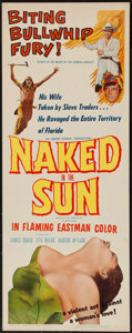 """Movie Posters:Western, Naked in the Sun & Others Lot (Allied Artists, 1957). Inserts (4) (14"""" X 36""""). Western.. ... (Total: 4 Items)"""
