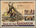 """Movie Posters:Adventure, Sign of the Gladiator & Other Lot (American International,1959). Half Sheets (2) (22"""" X 28""""). Adventure.. ..."""