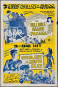 """Movie Posters:Adventure, The Hell Hole Named Panama/The Spoilers of the South Seas Combo(1940). One Sheet (27"""" X 41""""). Adventure.. ..."""