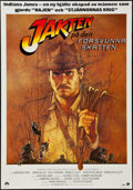 "Movie Posters:Adventure, Raiders of the Lost Ark (Paramount, 1981). Swedish One Sheet (27.5""X 39.5""). Adventure.. ..."