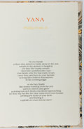 Books:Fine Press & Book Arts, Philip Foss, Jr. SIGNED LIMITED EDITION. Yana. [TidelinePress, 1978]. One of 100 copies signed by Foss. Quarto....