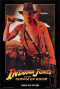 "Movie Posters:Adventure, Indiana Jones and the Temple of Doom (Paramount, 1984). One Sheet(27"" X 40"") Advance - Black Background. Adventure.. ..."