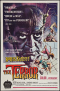 "Movie Posters:Horror, The Terror (American International, 1963). One Sheet (27"" X 41"") Style A. Horror.. ..."