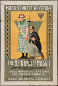 """Movie Posters:Comedy, The Betrayal of Maggie (Triangle-Keystone, 1917). One Sheet (27"""" X41""""). Comedy.. ..."""