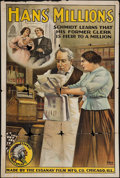 """Movie Posters:Comedy, Hans' Millions (General Film, 1911). One Sheet (28"""" X 42"""").Comedy.. ..."""