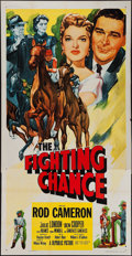 """Movie Posters:Sports, The Fighting Chance (Republic, 1955). Three Sheet (41"""" X 79""""). Sports.. ..."""