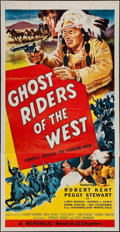 "Movie Posters:Serial, Ghost Riders of the West (Republic, 1954). Three Sheet (41"" X 81""). Serial.. ..."