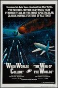 "Movie Posters:Science Fiction, When Worlds Collide/The War of the Worlds Combo (Paramount, R-1977). One Sheet (27"" X 41"") Flat Folded. Science Fiction.. ..."