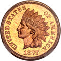 Proof Indian Cents, 1877 1C Cameo PR65 Red and Brown NGC....