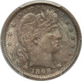 Barber Quarters: , 1898 25C MS64 PCGS. CAC. PCGS Population (55/53). NGC Census:(64/49). Mintage: 11,100,735. Numismedia Wsl. Price for probl...