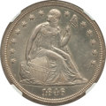 Seated Dollars: , 1846 $1 -- Whizzed -- NGC Details. AU. NGC Census: (32/259). PCGSPopulation (78/216). Mintage: 110,600. Numismedia Wsl. Pr...