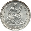 Seated Dimes: , 1886 10C MS65 NGC. NGC Census: (82/62). PCGS Population (75/33).Mintage: 6,376,684. Numismedia Wsl. Price for problem free...