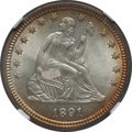 Seated Quarters: , 1891 25C MS64 NGC. NGC Census: (139/120). PCGS Population (148/79).Mintage: 3,920,600. Numismedia Wsl. Price for problem f...