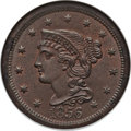 1856 1C Slanted 5 MS64 Brown NGC. N-19. NGC Census: (0/0). PCGS Population (39/15). (#1922) From The Cornerstone Colle...