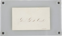 "George Armstrong Custer: Autograph Calling Card Signed ""Genl. G. A. Custer/ U.S.A."""