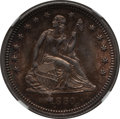 Seated Quarters: , 1860 25C MS63 NGC. NGC Census: (12/17). PCGS Population (10/30).Mintage: 805,400. Numismedia Wsl. Price for problem free N...