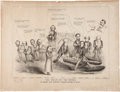 Political:Posters & Broadsides (pre-1896), Abraham Lincoln: Large Anti-Lincoln Cartoon from 1864....