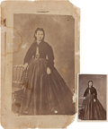 Photography:CDVs, Lincoln County Wars: Catharina Fritz Photographs.... (Total: 2 Items)