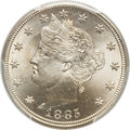 Liberty Nickels, 1885 5C MS66 PCGS. CAC....