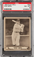 Baseball Cards:Singles (1940-1949), 1940 Play Ball Moe Berg #30 PSA NM-MT 8....