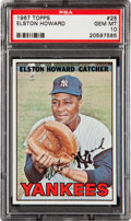 Baseball Cards:Singles (1960-1969), 1967 Topps Elston Howard #25 PSA Gem Mint 10....