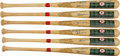 Autographs:Bats, 1967 Boston Red Sox Reunion (1992) Team Signed Bats Lot of 6....