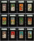 Baseball Cards:Sets, 1909-11 E90-1 American Caramel Partial Set (60/120) With Jackson....