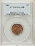 Indian Cents: , 1883 1C MS65 Red and Brown PCGS. PCGS Population (53/2). NGCCensus: (202/46). Mintage: 45,598,108. Numismedia Wsl. Price f...