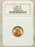Lincoln Cents: , 1926 1C MS65 Red NGC. NGC Census: (722/458). PCGS Population(862/551). Mintage: 157,088,000. Numismedia Wsl. Price for pro...