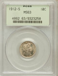 Barber Dimes: , 1912-S 10C MS63 PCGS. PCGS Population (39/79). NGC Census: (27/78).Mintage: 3,420,000. Numismedia Wsl. Price for problem f...
