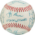 Autographs:Baseballs, 1956 New York Yankees Team Signed Baseball....