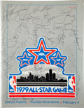 Basketball Collectibles:Programs, 1979 NBA All Star Signed Program With Pete Maravich. ...