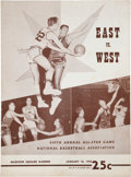 Basketball Collectibles:Programs, 1955 NBA All-Star Game Program....